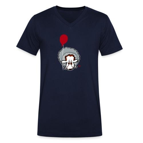 Evil Clown Sheep from IT - Økologisk T-skjorte med V-hals for menn fra Stanley & Stella