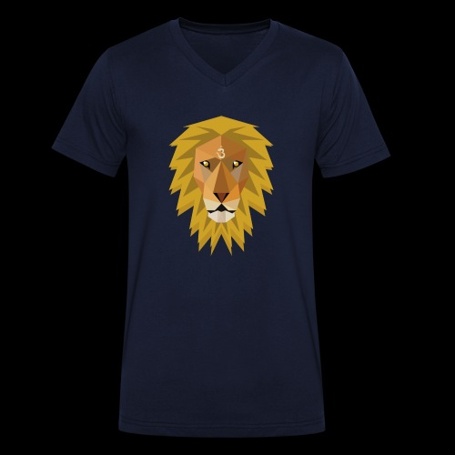 Spirit Lion case - Mannen bio T-shirt met V-hals van Stanley & Stella