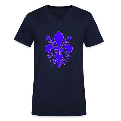 giglio viola - T-shirt ecologica da uomo con scollo a V di Stanley & Stella