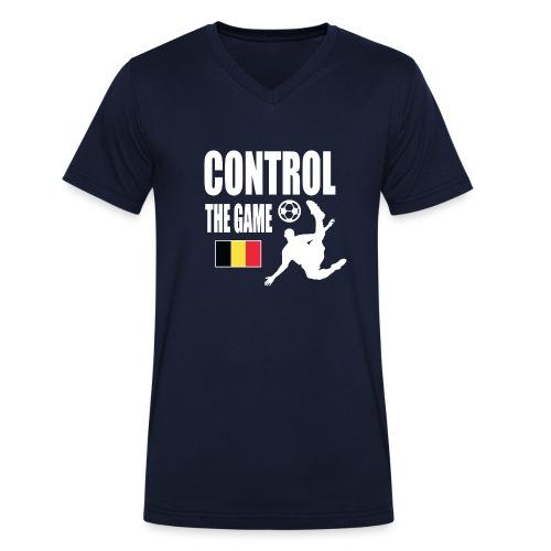 Control The Game Belgium - Mannen bio T-shirt met V-hals van Stanley & Stella