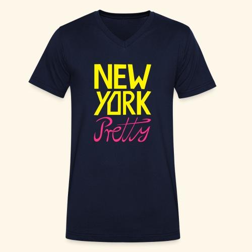 NEW YORK Pretty - Männer Bio-T-Shirt mit V-Ausschnitt von Stanley & Stella