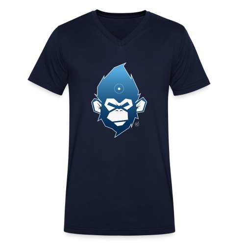 monkeyZ degrade bleu - T-shirt bio col V Stanley & Stella Homme
