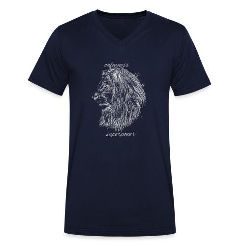Calmness is a superpower - T-shirt ecologica da uomo con scollo a V di Stanley & Stella