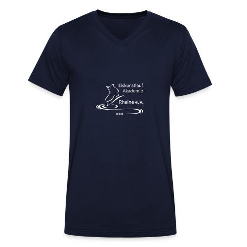 EARheine Logo weiss - Männer Bio-T-Shirt mit V-Ausschnitt von Stanley & Stella