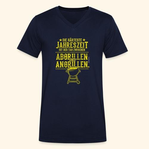 Grill-T-Shirt Grillsaison Abgrillen Angrillen - Männer Bio-T-Shirt mit V-Ausschnitt von Stanley & Stella