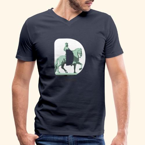 Düsseldorf T-Shirt Jan Wellem D weiß - Männer Bio-T-Shirt mit V-Ausschnitt von Stanley & Stella