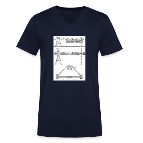 Schwebebahnskizze - Männer Bio-T-Shirt mit V-Ausschnitt von Stanley & Stella
