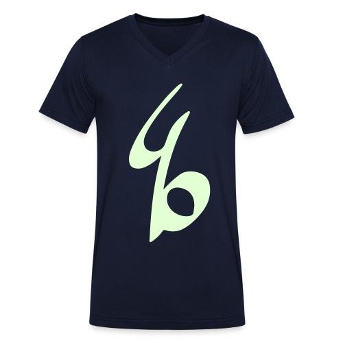 490Logo - Mannen bio T-shirt met V-hals van Stanley & Stella