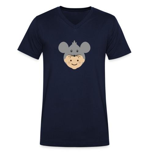 Mr Mousey | Ibbleobble - Men's Organic V-Neck T-Shirt by Stanley & Stella
