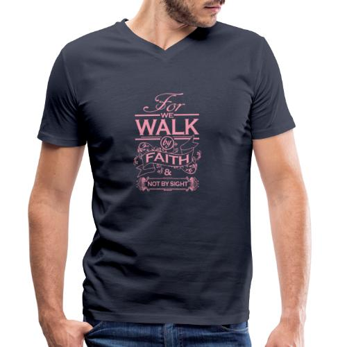 walk pink - Men's Organic V-Neck T-Shirt by Stanley & Stella