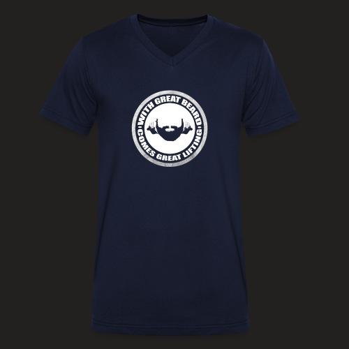 BEARD RESP - Men's Organic V-Neck T-Shirt by Stanley & Stella