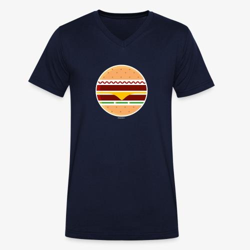 Circle Burger - T-shirt ecologica da uomo con scollo a V di Stanley & Stella