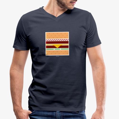 Square Burger - T-shirt ecologica da uomo con scollo a V di Stanley & Stella