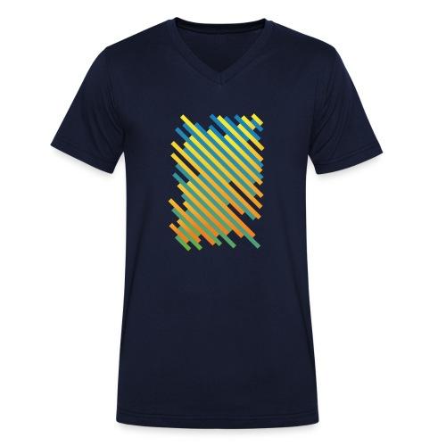 Stripes - Männer Bio-T-Shirt mit V-Ausschnitt von Stanley & Stella