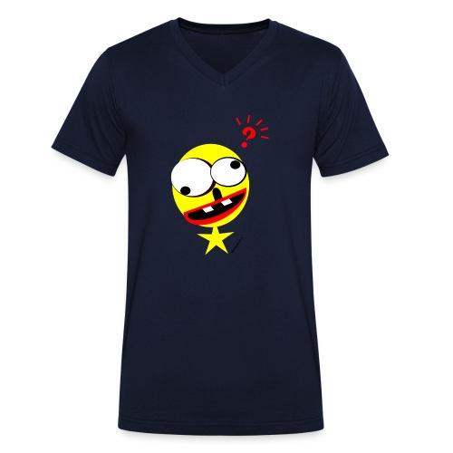 Smilyman? - Männer Bio-T-Shirt mit V-Ausschnitt von Stanley & Stella