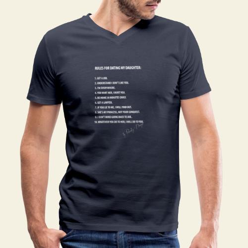 dating my daughter - Økologisk Stanley & Stella T-shirt med V-udskæring til herrer