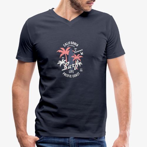 California Surf - T-shirt bio col V Stanley & Stella Homme