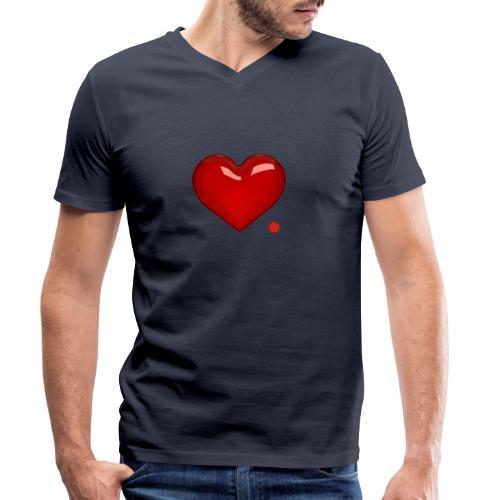 Love. Regalo. Coppia. Amore. - T-shirt ecologica da uomo con scollo a V di Stanley & Stella