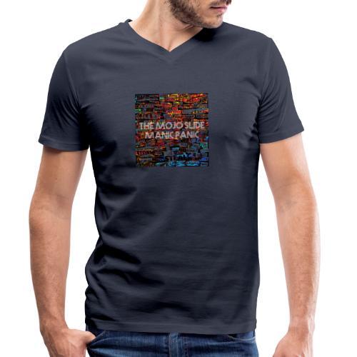 Manic Panic - Design 1 - Men's Organic V-Neck T-Shirt by Stanley & Stella