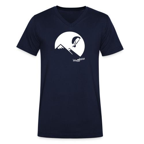 nachtflug - Männer Bio-T-Shirt mit V-Ausschnitt von Stanley & Stella