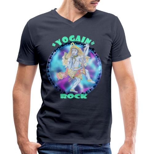 YogaIn Rock - T-shirt ecologica da uomo con scollo a V di Stanley & Stella