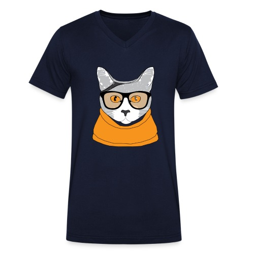 Cat - T-shirt bio col V Stanley & Stella Homme