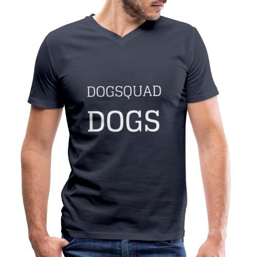 DOGS QUAD - Men's Organic V-Neck T-Shirt by Stanley & Stella