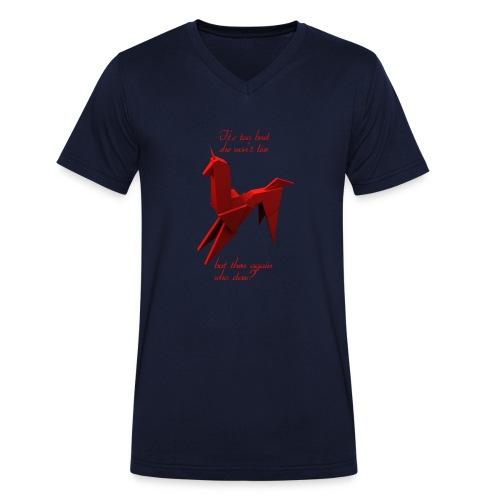 UnicornioBR2 - Camiseta ecológica hombre con cuello de pico de Stanley & Stella