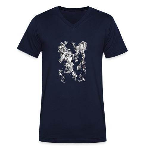 Crazy shapes - Männer Bio-T-Shirt mit V-Ausschnitt von Stanley & Stella