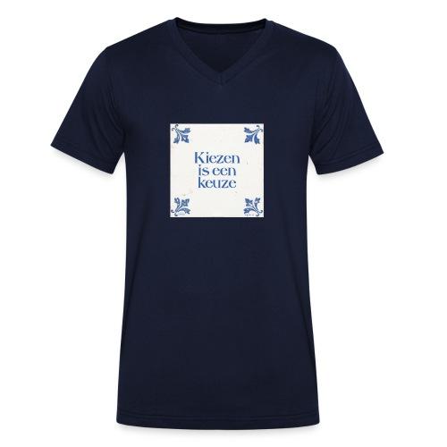 Herenshirt: kiezen is een keuze - Mannen bio T-shirt met V-hals van Stanley & Stella