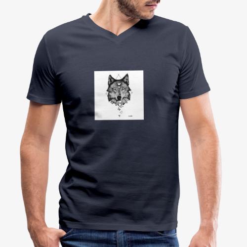 Wolf Grafik - Männer Bio-T-Shirt mit V-Ausschnitt von Stanley & Stella