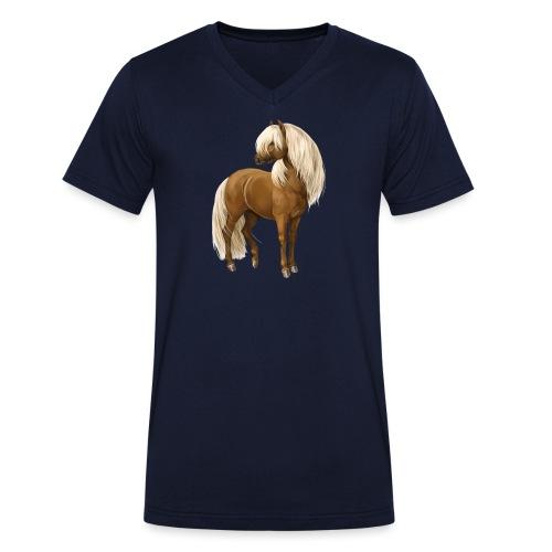Pony Hengst - Männer Bio-T-Shirt mit V-Ausschnitt von Stanley & Stella