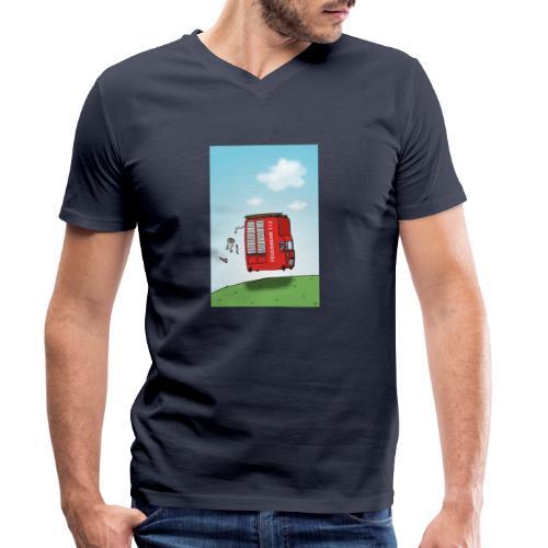 Feuerwehrwagen - Männer Bio-T-Shirt mit V-Ausschnitt von Stanley & Stella