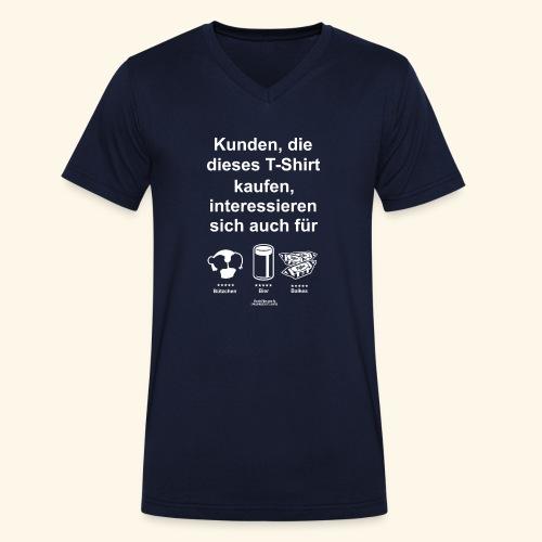 Karneval T Shirt Düsseldorf   Bier, Bützchen - Männer Bio-T-Shirt mit V-Ausschnitt von Stanley & Stella