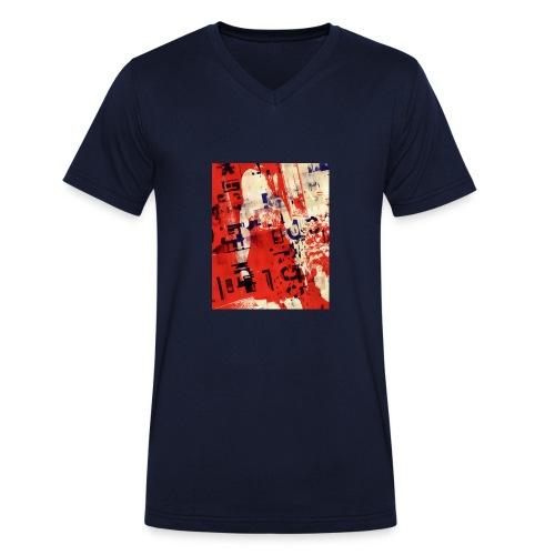 Redqueen - Männer Bio-T-Shirt mit V-Ausschnitt von Stanley & Stella