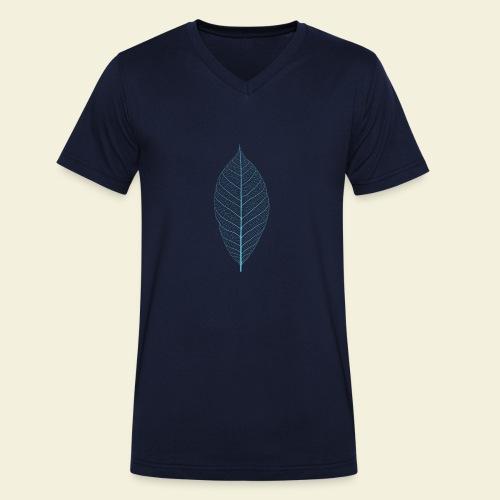 Feuille bleu Squelette - T-shirt bio col V Stanley & Stella Homme