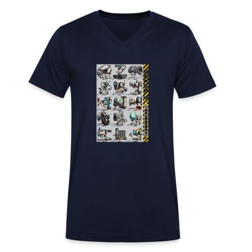 March of Rawrobots 01-15 - Økologisk Stanley & Stella T-shirt med V-udskæring til herrer