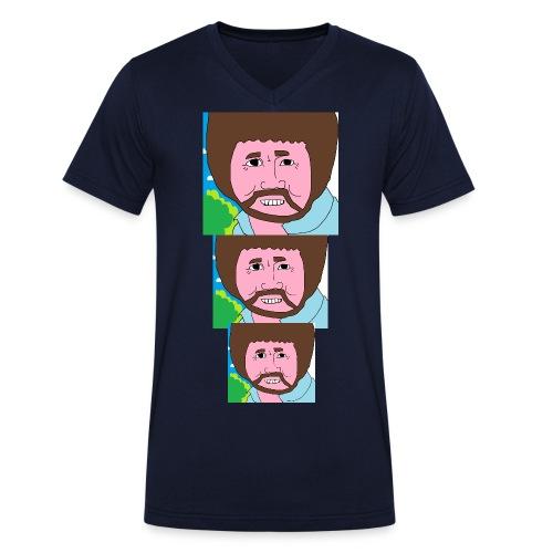 Bob Ross - Men's Organic V-Neck T-Shirt by Stanley & Stella