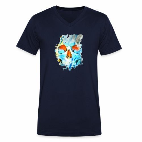craneo mancha - Camiseta ecológica hombre con cuello de pico de Stanley & Stella