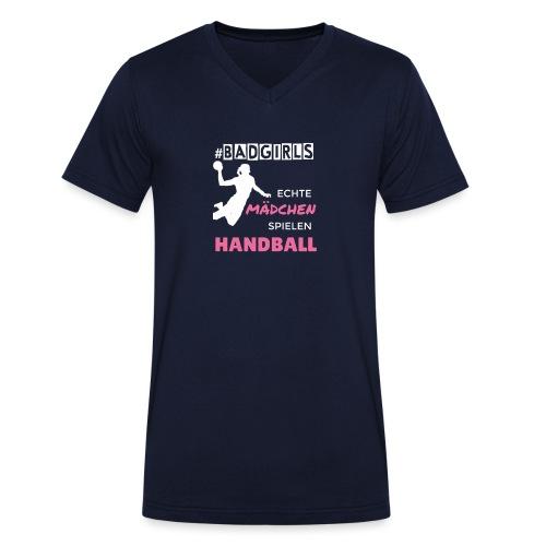 BADGIRLS Handball - Männer Bio-T-Shirt mit V-Ausschnitt von Stanley & Stella