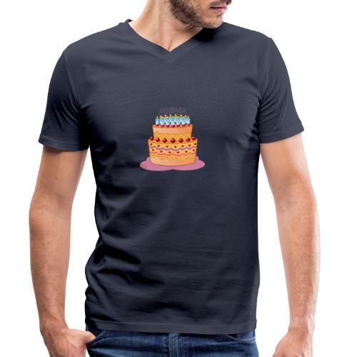 birthday cake - Männer Bio-T-Shirt mit V-Ausschnitt von Stanley & Stella