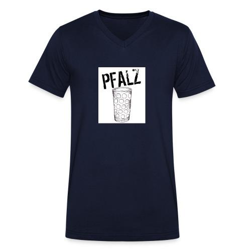 Pfalzshirt mit Dubbeglas, weiß - Männer Bio-T-Shirt mit V-Ausschnitt von Stanley & Stella