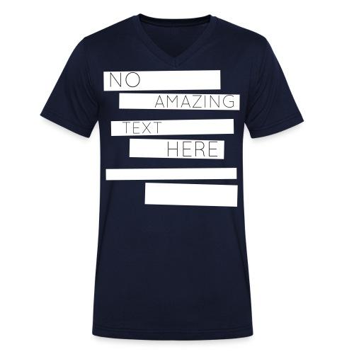 noamazingtext - Männer Bio-T-Shirt mit V-Ausschnitt von Stanley & Stella