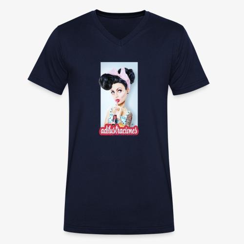 PINup - Camiseta ecológica hombre con cuello de pico de Stanley & Stella