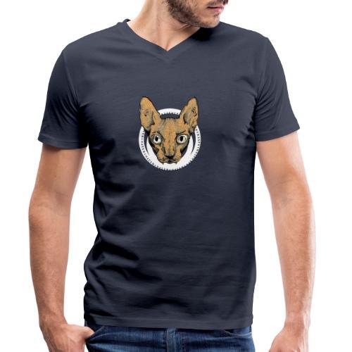 sphynx white bg - Ekologisk T-shirt med V-ringning herr från Stanley & Stella
