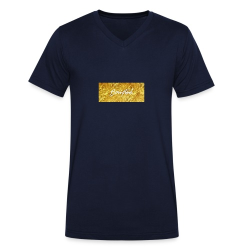 Scripted. Box Logo - Men's Organic V-Neck T-Shirt by Stanley & Stella