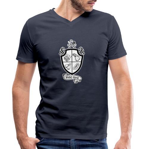 BBQ King - T-shirt ecologica da uomo con scollo a V di Stanley & Stella