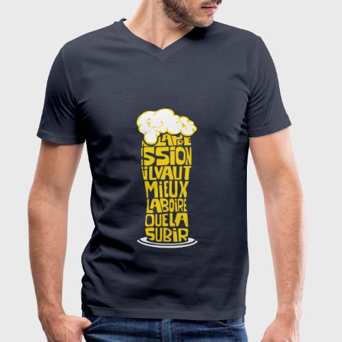 Bière ou Pression citation - T-shirt bio col V Stanley & Stella Homme