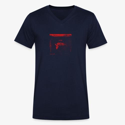 Hyena Red - Ekologisk T-shirt med V-ringning herr från Stanley & Stella