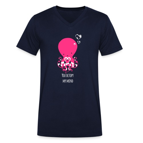 Tintenfisch Spruch dunkel - Männer Bio-T-Shirt mit V-Ausschnitt von Stanley & Stella